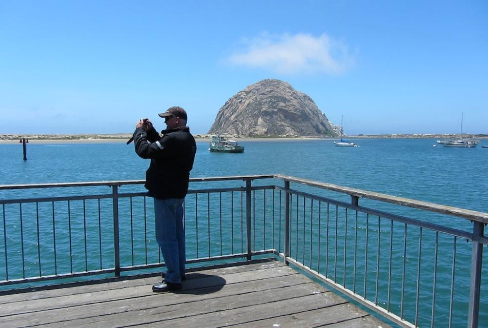 Photo stop at Morro Rock