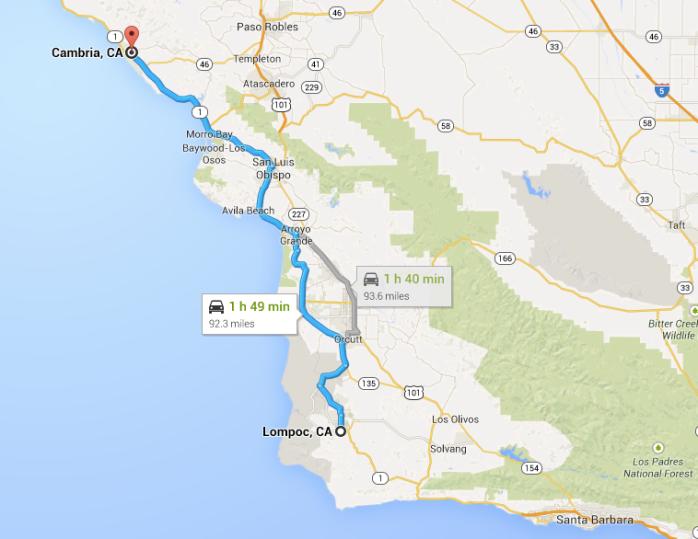Lompoc to Cambria